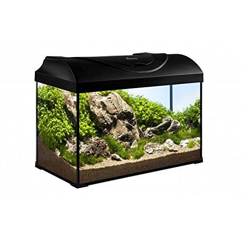 50l Led (Diversa Aquarium 50er komplett Set 50x25x30 cm rechteck schwarz)