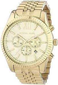 Reloj Michael Kors Lexington MK8281 de cuarzo para hombre, correa de acero inoxidable color dorado (cronómetro, agujas luminiscentes) de Michael Kors