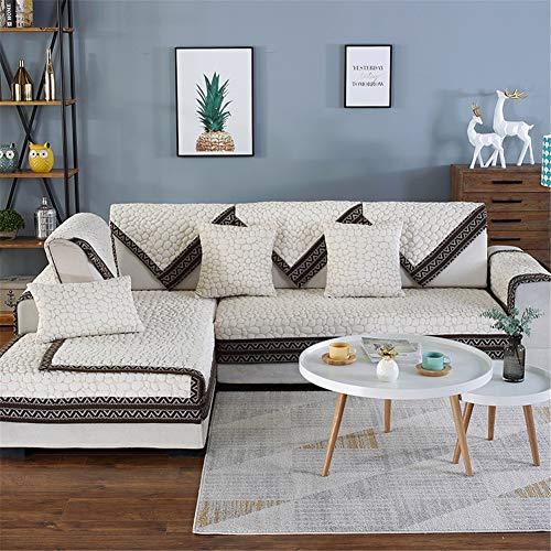 YJRH Tuch rutschfest Sofa Abdeckung bilden Vier Jahreszeiten Allgemeiner Zweck Sofa Schutz Abdeckung 1teiliges Set Chenille Sofa-überwürfe atmungsaktive
