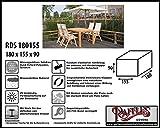 RDS180155 Schutzhaube für Gartenmöbel Sitzgruppe, 1 Tisch mit 4 verstellbar Klappsesseln. Abdeckung Gartenmöbel, Schutzhülle Gartenmöbel und Abdeckplane für Sitzgarnituren, Abdeckung Gartengarnitur