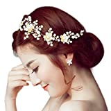 Sanjog Princess Crown Hair band Tiara Fashionable Stone Hair Clip With Pins