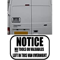 Notice No Tools or Valuables Left In This Van Overnight Warning Sticker Builder Plumber (Black) - ukpricecomparsion.eu