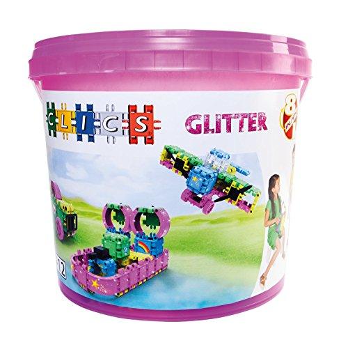 Clics CB180 Eimer 8 in 1 Glitter, Baukästen