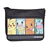 Bioworld Pokemon Starting Characters Messenger Bag, 49 cm, 10 Litre, Black
