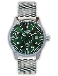 LIV MORRIS LIV MORRIS York Mesh 0732066354468 - Reloj para hombres, correa de acero inoxidable color acero