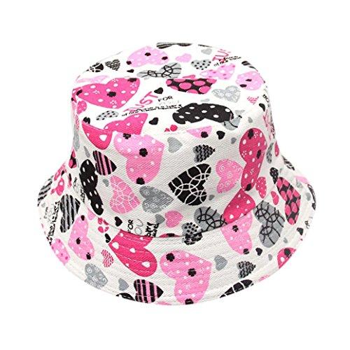 ids Mädchen Blümchenmuster Eimer Hüte Sun Helmet Cap Headwear (B) (Dressing Up Outfits Für Mädchen)