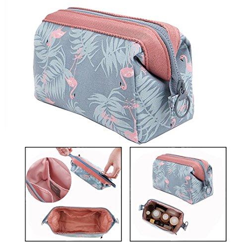 OFKPO Reise Multifunktional Kosmetiktasche,Tragbar Make up Tasche mit Reißverschluss für Damen(Hellblau)