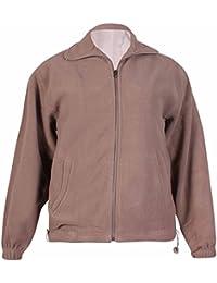 Womens Long Sleeve Ladies Fleece Full Zip Pocket Lined Plain Jacket Coat Plus Size