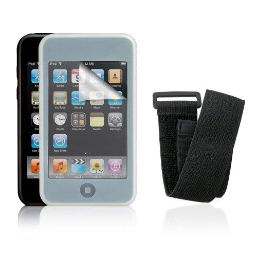 Lava Starter-Pack für iPod Touch 3G inkl. transparente/schwarze Silikonhüllen, Sportarmband, Bildschirmschutz Ipod-starter Pack