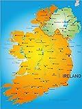 Poster 60 x 80 cm: Irland - Landkarte von Editors Choice - Hochwertiger Kunstdruck, Kunstposter