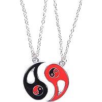 ying yang kette,Freundschaftsketten,Kitteny Jewelry Puzzle-Anhänger im Yin-Yang-Design für Jungen, Mädchen, beste…