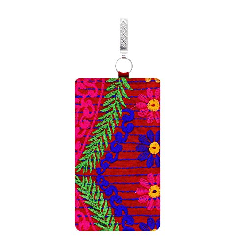 Bagaholics Ethnic Raw Silk Saree Clutch Mobile Pouch Waist Clip Ladies Purse...