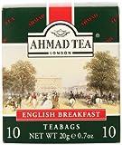 Ahmad Tea Enveloped English Breakfast Teabags, 10 Count (Pack of 24)