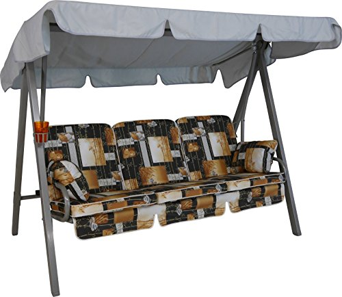 Angerer Select Hollywoodschaukel 3-Sitzer Design Bambus, braun, 210 x 145 x 160 cm, 6002/0