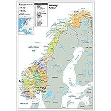 Karte Norwegen.Suchergebnis Auf Amazon De Fur Norwegen Karte Burobedarf