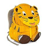 Affenzahn Kinderrucksack mit Brustgurt Theo Tiger für 3-5 Jährige Jungen und Mädchen im Kindergarten oder Kita - Gelb