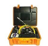 mabelstar 25,4cm Monitor 50m Kanalisation Ruten Inspektionskamera mit 512Hz Sonde Rohr Locator und 16mm und 23mm Kamera Kopf