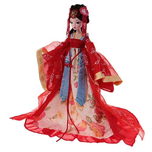 CUTICATE 1/6 BJD Kurhn Girl, 10 Gelenke Gelenkkörper, Chinese Ancient Fairy Character Doll Mit Kostüm (ausziehbar) Kann Ins Wasser - # E (China Doll Kostüm Kinder)