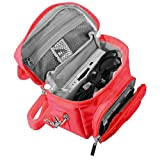 Nintendo ® DS TRAVEL BAG para Consola Juegos y Accessarios (adapta TODOS Los Versiones de DS con Pantalla Plegable - Por ejemplo: Original DS / 3DS / DS Lite / Nintendo 3DS XL / DSi / etc pero no 2DS Modelo Version) - Diseñado por KIICKS ® en exclusiva pa