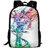 HOJJP Sac d'école Abstract Colorful Giraffe Travel High School Backpacks LightWeight Bag for College Girls Womens...