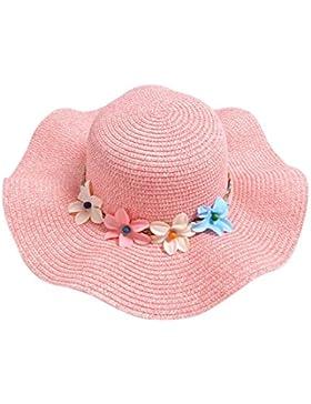 Gespout Primavera Estate Ragazze Cappello di Paglia Cappello da Sole Fiori Cappello del Bacino Berretti per Bambini...