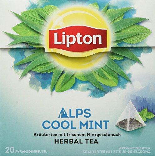 Lipton Kräutertee Alpenminze Pyramidenbeutel 20 Stück, 3er Pack