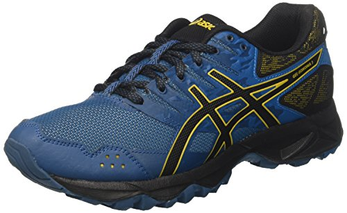 Asics Herren Gel-Sonoma 3 T724N-4590 Traillaufschuhe, Blau (Ink Blue/Black/Lemon Curry 4590), 40 EU