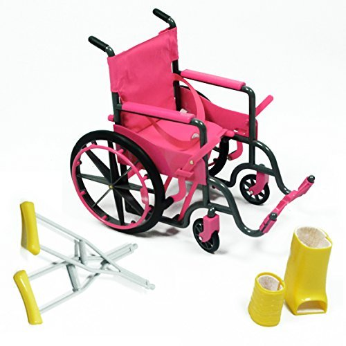 Doll Wheelchair Set with Accessories for 18 Inch Dolls Like American Girl Dolls by The New York Doll Collection