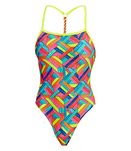 Funkita Badeanzug Panel Pop - Schwimmanzug Damen, Größe:38