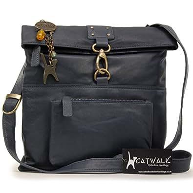 Catwalk Collection Handbags Damen Geldbeutel, Blau, Media