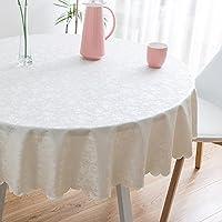 JIAYOU Tischdecke Wasserdicht Anti-Verbrühung Öl-Beweis Einweg Runde Tischdecke Hotel Restaurant Große Runde Tischdecke Tischdecke,#1,160Cm
