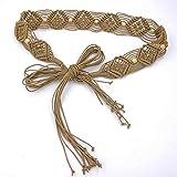 Zoylink CinturóN De Cintura para Mujer Boho CinturóN Bohemio Decorativo Trenzado Vestido Retro Cintura Band Waist Sash para NiñAs