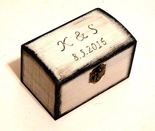 Ring Inhaberaktien Kissen, Ringhalter, Box für Ringe, Herr Frau-Ring-Kasten, Valentines Vorschlag, Weiße Ring Box, Geschenkbox für ihre (Inhaberaktien Kissen Ring)