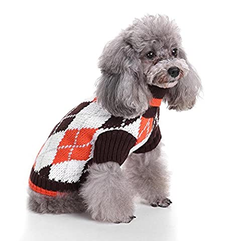 Pet Chic Argyle All Over Dog Sweater LNAG , s