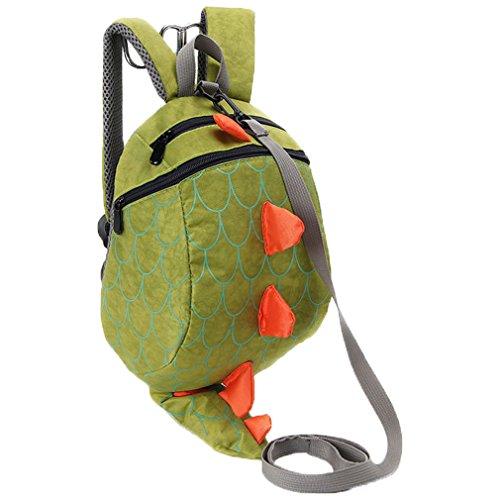 Niedliche Dinosaurier-Tier-Kind-Rucksack Anti verlorene Tasche (Grün) - Kinder Dinosaurier-spielzeug Für