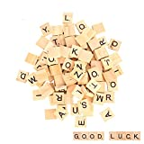 moinkerin 100 Stücke Holzbuchstaben, Puzzle Alphabet A bis Z, Scrabble für Kinder Lernen