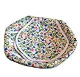 #3: Roti Basket / Roti Cotton Cloth Basket / Washable with Chain ( Design / Colored May Vary ) 1 Piece / Size (9*24*24 cm)