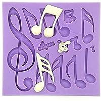 Bluelover Note Musicali Della Torta Del Fondente Della Muffa Del Silicone Della Muffa Attrezzo Della Torta Che Decora
