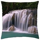 Erawan Waterfall, Thailand - Throw Pillow Cover Case (18
