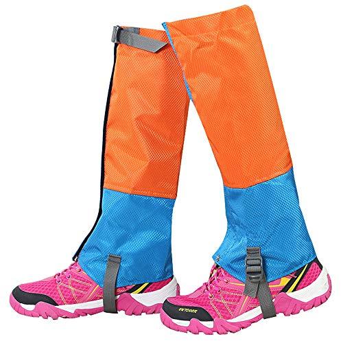 Schutz-system-schnee-hose (Regenüberschuhe Feet Gaiter wasserdichte Wandergamaschen Strapazierfähiges Legging Atmungsaktives High Leg Cover Wraps für Männer Frauen Kinder für Mountain Trekking Skifahren Spazierengehen Klettern)