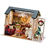 Anbau DIY Handicraft Miniature Dollhouse with Furniture Set and LED Light Doll Room Decor Play Fun Toy Xmas Toy Gift - Holiday Time