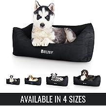 BELISY ANTARI cama para perro de terciopelo suave I funda extraíble y lavable