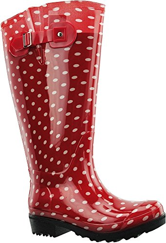 JJ Footwear Damen Stiefel PVC Wellies XL Rot