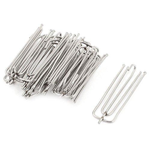 15 Pcs 7cm Longueur acier inoxydable Rideau Pleat Prong Forks Crochets