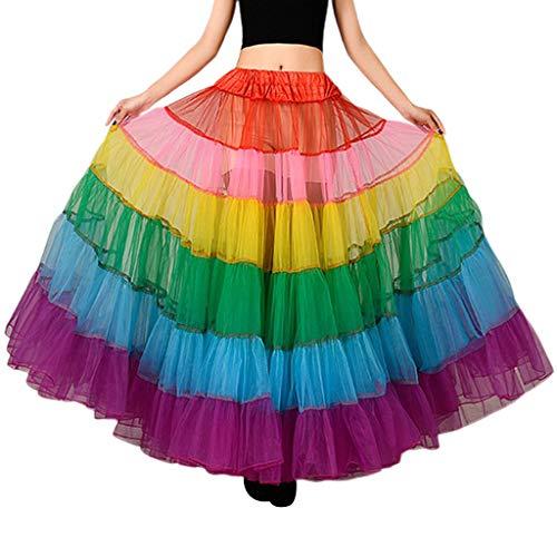 Kostüm Tragen Tanz Jazz - chenpaif Neue Braut ohne Knochen Hochzeit Kleid Rock Farbe große Pendel Tanz halblangen Mesh Tutu Röcke Petticoat