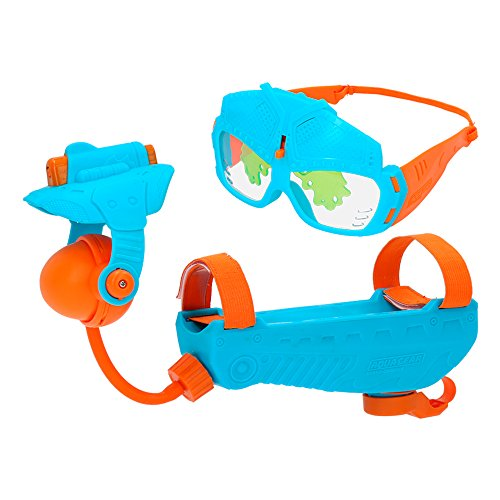 EOLO–Aqua Gear Playset Launcher + Brille in blau und orange (COLORBABY 43651)