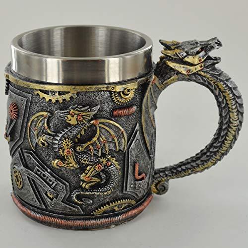 Prezents.com - Taza de dragón mecánico con Detalles increíbles o Adorno de Altar para fanáticos de fantasía y Magia