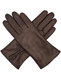 Harssidanzar Gants de luxe en cuir italien Nappa pour femmes, doublure en  laine finition vintage 898e544e96b