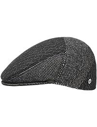 Lierys ZigZag Print Flatcap Schirmmütze Schiebermütze Ivy Cap Wollcap für Herren Wollcap Flatcap Wintercap mit Schirm, mit Futter Herbst Winter