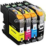 Brother Compatible Chipped Printer Ink Cartridges LC-223 Multipack For Brother DCP-J4120DW, MFC-J4420DW, MFC-J4620DW, MFC-J4625DW, MFC-J5320DW, MFC-J5620DW, MFC-J5625DW, MFC-J5720DW by Global Toners (Brother LC 223 - One Set (4 Inks))